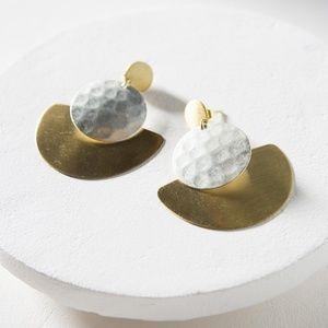 Matr Boomie silver and gold earrings